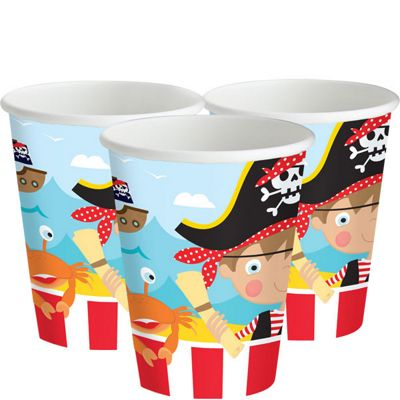 Little Pirate Cups - 255ml Paper Party Cups