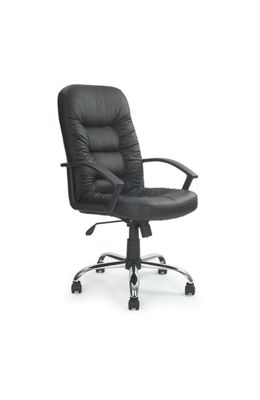 Eliza Tinsley High Back Leather Executive Chair in Black
