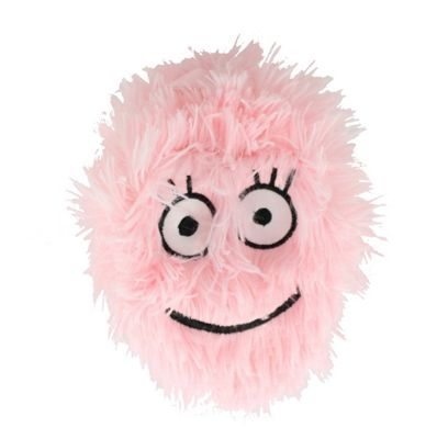 Children's 9 Inch Inflatable Baby Pink Smiley Happy Face Furry Ball With Eyes