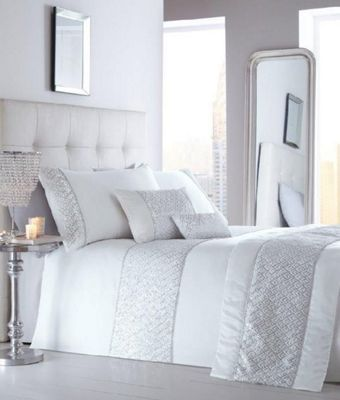 Shimmer White Duvet Cover Set - Kingsize