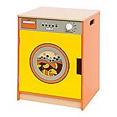 Bigjigs Toys Orange and Yellow Washing Machine