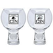 Durobor Alternato Short Stem Gentlemen's and Ladies' Gin Glass - 540ml - Set of 2 Glasses