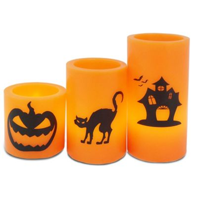 Andrew James LED Candles for Halloween - Flickering Light Effect -Battery Operated