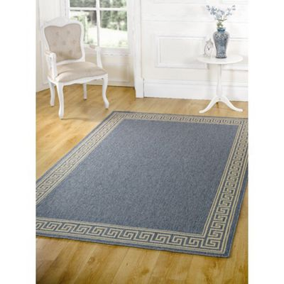 Rugs with Flair Florence Lorenzo Blue Contemporary Rug/Runner - 120cm x 170cm