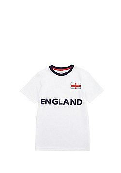 F&F England Football Mesh T-Shirt - White