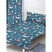 Nautical Sea 4 in 1 Junior Bedding Bundle Set
