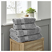 Fox & Ivy 4 Piece Egyptian Cotton Silver Towel Bale