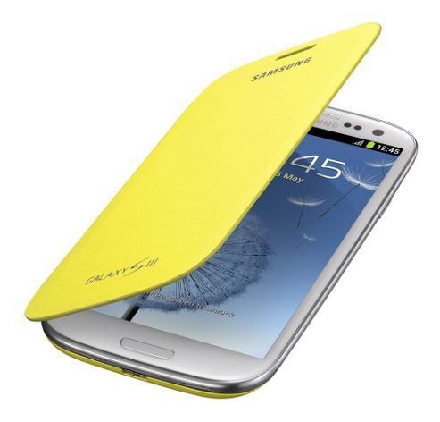 Samsung Original Notebook Style Flip Case for Galaxy S3 - Yellow