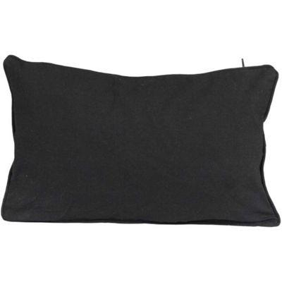 Homescapes Cotton Plain Black Cushion Cover, 30 x 50 cm