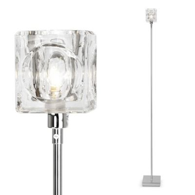 Glass cube floor lamp gurus floor for Ice cube 3 light floor lamp