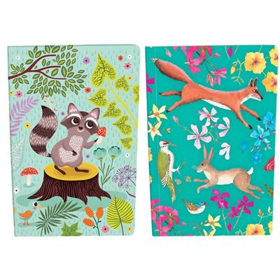 Set of 2 School Notebooks - Call Of the Wild, Children's Notebook, Kids Stationery, Children's Gifts