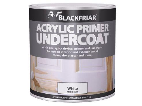 Blackfriar Quick Drying Acrylic Primer Undercoat White 1 Litre
