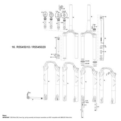 RockShox Rebound Damper/Seal Head Assembly Reba RL MoCo 2012 29