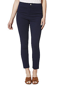 F&F Ankle Grazer Super High Rise Push-Up Skinny Jeans - Navy
