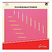 Sew Easy Pink Ascending Square Acrylic Patchwork & Quilting Template