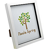 White 8x10 Box Photo Frame - Standing & Hanging