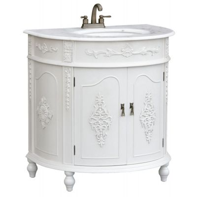 Antique White Sink Cabinet