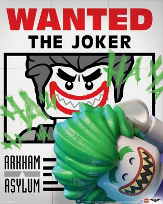 Lego Batman Wanted The Joker Mini Poster 40x50cm