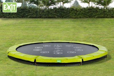 EXIT Twist Ground Trampoline (12ft) Green/Grey