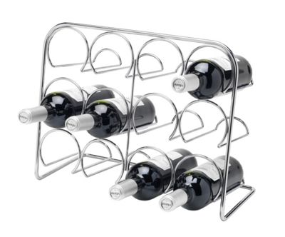 Hahn Wine rack - Gloss Black - 35cm H x 45cm W x 20cm D (12 Bottle)