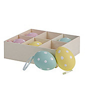 Set Of 6 Spotty Easter Egg Decorations