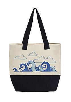 The Deep Blue Sea Large Canvas Tote Bag 48x46cm