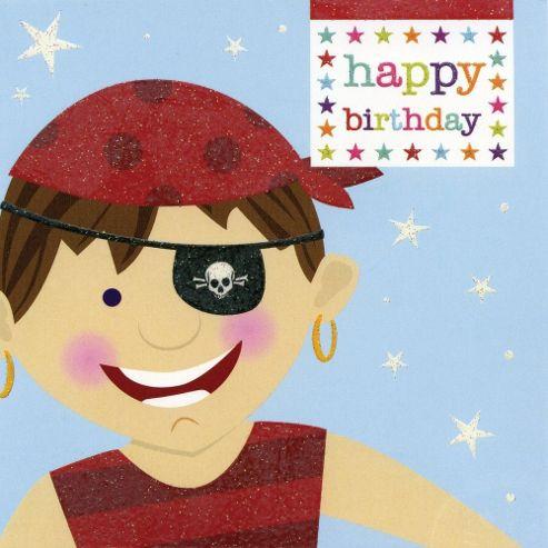 Cheeky Pirate Birthday Card