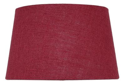 Red 9 Inch Linen Empire Shade (Dual Fitting)