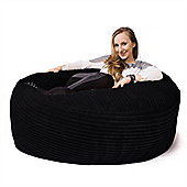 Lounge Pug™ Mammoth Cord Bean Bag - Black