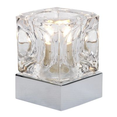 Ice Cube Touch Table Lamp, Chrome