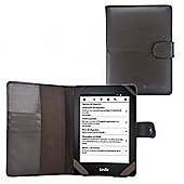 Navitech Premium Leather Luxury Brown Case / Cover for the Amazon Kindle