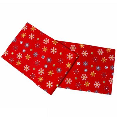 Homescapes Cotton Christmas Red Snowflake Pack of 2 Placemats