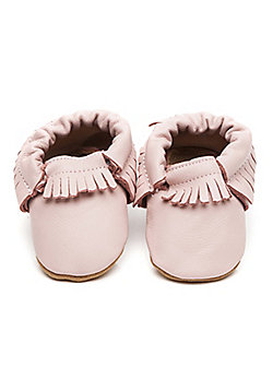Olea London Moccasins Baby Shoes Pink - Pink