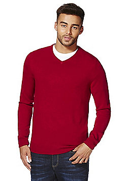 F&F Soft Touch V-Neck Jumper - Red