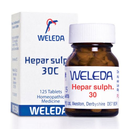 Weleda Hepar Sulph. 30C 125 Tablets