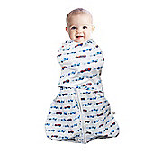 Clevamama 3-6 Months 3 in 1 Blue Baby Infant Swaddle Sleeping Bag