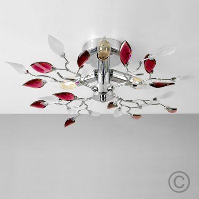 Medusa 3 Way Floral Ceiling Light, Chrome