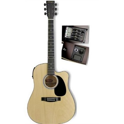 Rocket Electro-Acoustic Dreadnought Guitar inc Tuner