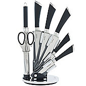 VonShef 7pc Soft Grip Knife Set with Revolving Block