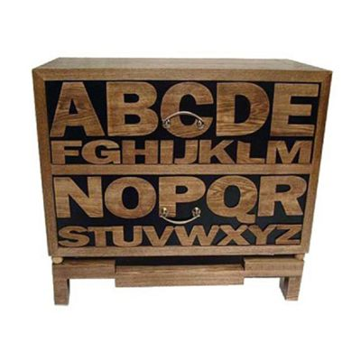 Wooden Cabinet ABCDE..