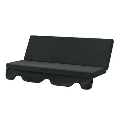 Gardenista Water Resistant 3 Seater Hammock Seat Pad - Black