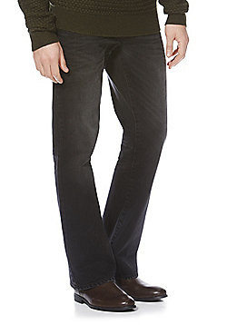 F&F Bootcut Jeans with Belt - Black