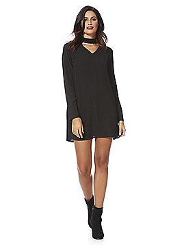 Stella Morgan Choker Tunic Dress - Black