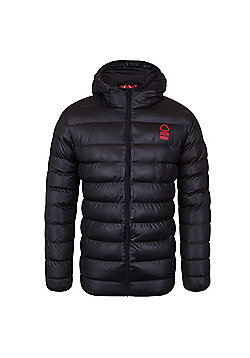 Nottingham Forest FC Mens Quilted Jacket - Black