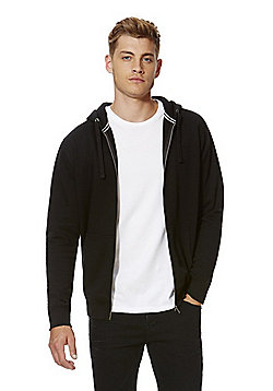 F&F Zip-Through Hoodie with As New Technology - Black