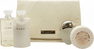 Bvlgari Omnia Crystalline Gift Set 25ml EDT + 75ml Body Lotion + 75ml Shower Oil + 75g Soap + Bag For Women