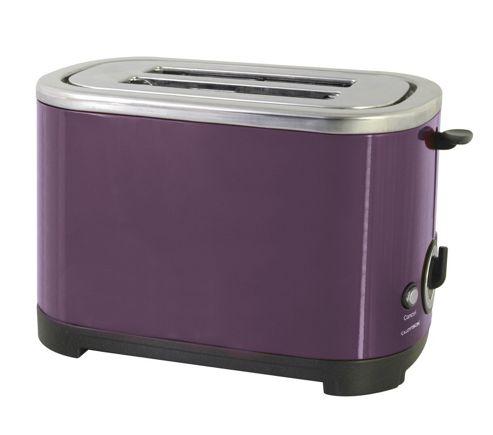Home Essence 2 Slice Toaster in Plum Steel