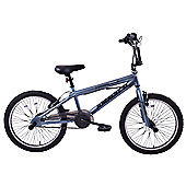 "Ammaco Extreme 20"" Wheel Freestyler BMX Bike Grey"