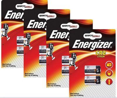 8 x Energizer CR2 3v Lithium Photo Battery DLCR2