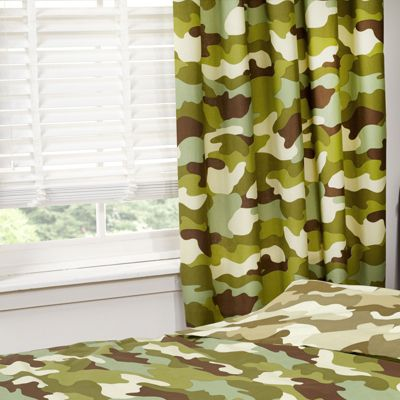 Army Camouflage Lined Curtains 72